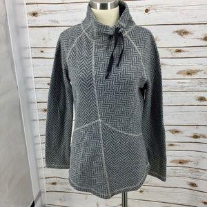 Prana Mattea Chevron knit funnel neck pullover M